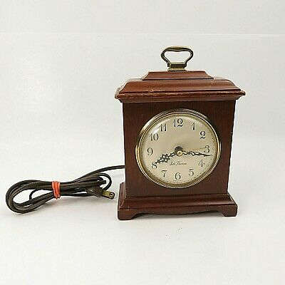 Antique Seth Thomas Case Mantel Clock BUCKINGHAM Electric Mahogany Alarm Works!