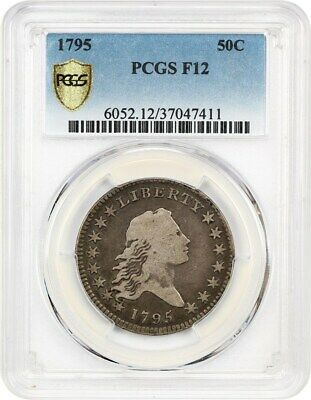 1795 50c PCGS F12 - Desirable 2-Year Type Coin - Bust Half Dollar