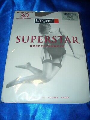 Ergee SUPERSTAR Damenstrümpfe Strapsstrümpfe Gr. 10,5-11 perle Stockings OVP