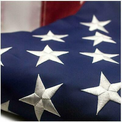 American Flag 5x8 ft 420D Nylon UV Protected Embroidered Stars Outside US Flag