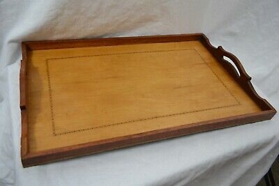 ANTIQUE EDWARDIAN inlaid satinwood wood tray
