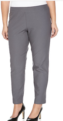 2X NWT Eileen Fisher Ash Washable Stretch Crepe Slim Ankle Pants