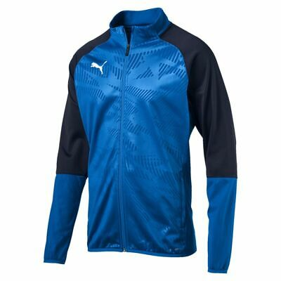 Puma Football Soccer Mens Training Casual Sports Full Zip Jacket Track Top Blue