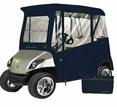 Custom Drivable 2 Person Golf Cart Enclosure Cover for Yamaha Drive - Color BLUE