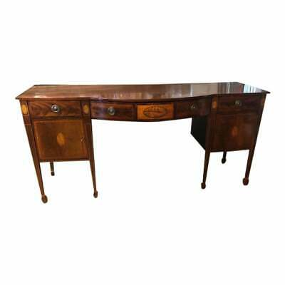 Superb Antique English Mahogany and Marquetry Large Server