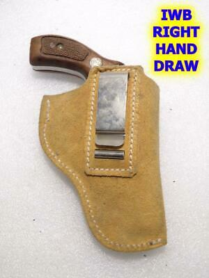J Frame/_FHL/_for SW 36/_38 SPL/_Leather Suede Holster/_IWB/_Conceal Carry/_USA/_RH/_LH/_