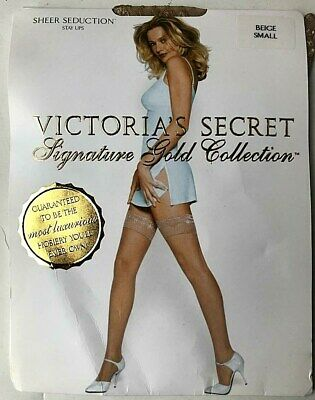 Victoria's Secret Signature Gold Collection Sheer Seduction Stay Ups Size Small