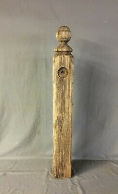 Antique Decorative Turned Hardwood Newel Post 5x42 Old Vtg Staircase 144-20B