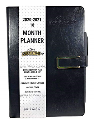 2020 Planner 18 Month Daily Weekly Yearly Journal Personal Organizer Black