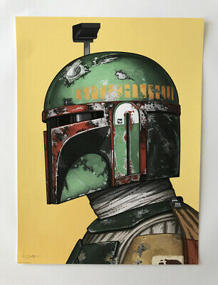 BOBA FETT BOUNTY HUNTER STAR WARS SUNSET MOVIES A3 ART PRINT POSTER YF5088