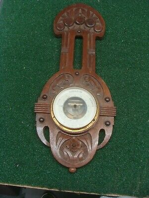Antique German Black Forest Carved Barometer