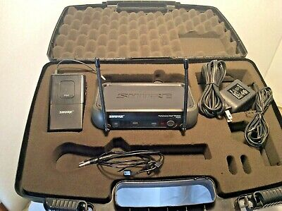 Shure PGX4 Wireless Receiver W/ PGX 1 Transmitter and WL93 Lavalier Microphone