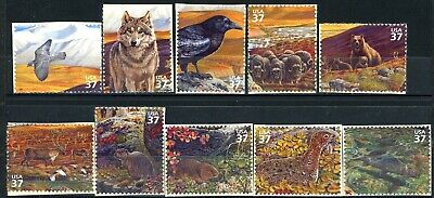 Arctic Tundra Complete Set of 10 S/A MNH $.37 Stamps Scott's 3802a to 3802j