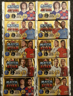 2019/20 Match Attax UEFA Soccer Trading Cards - 10 Packets FREE Shipping