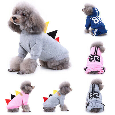 Pet Dog Coats Cat Puppy Chihuahua Clothes Sport Hoodie Winter Warm For Small Dog