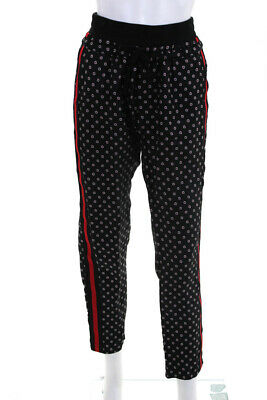 Sport The Kooples Womens Ruby Flower Print Trousers Black Red Size S 11013493