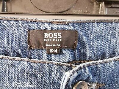 Hugo Boss jeans mid Blue size 16M authentic good condition teenager/petite man