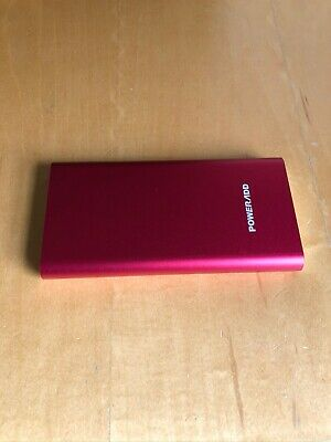 Poweradd Pilot 2GS 10,000mA Dual-Port Power Bank Portable Battery Red