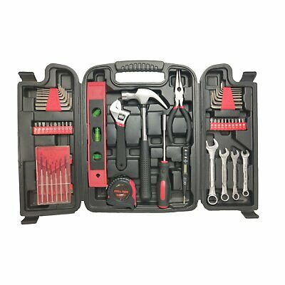 Complete Tool Set, 53pc Hand Tool Home DIY Full Repair Kit, With Carry Case