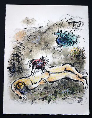 1989 Marc Chagall Odyssee Farblithographie limitiert 2500 Stk.
