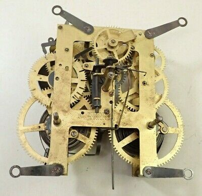 Antique E Ingraham 5 19 Mantel Shelf Clock Movement Parts Repair