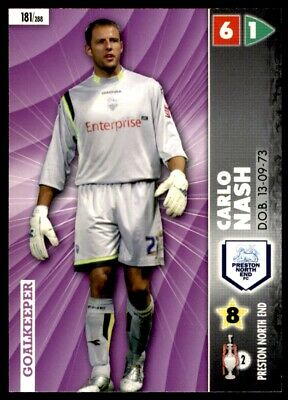Panini Coca-Cola Championship (2007) Card - Carlo Nash Preston North End No. 181