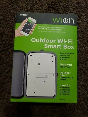 WiOn 50054 Outdoor Wi-Fi Smart Box, Wireless Time Switch; Control Electrical ...