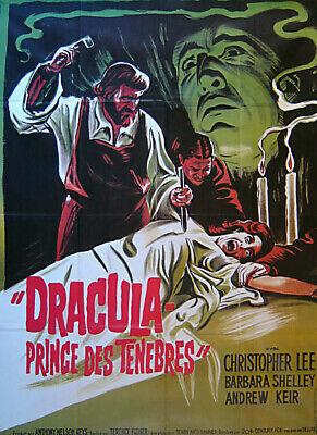 DRACULA, PRINCE OF DARKNESS Original Large French poster, Christopher Lee 1966