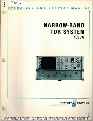 HP Manual 1580A NARROW-BAND TDR SYSTEM