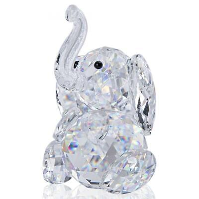 H&D Cut crystal elephant animal figurine collection glass ornament Style-1