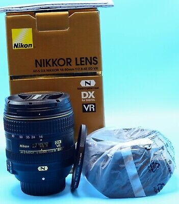 Nikon AF-S 16-80mm f 2.8-4E Nikkor DX ED VR Wide Zoom Lens Exc++++in Box