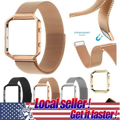 US For Fitbit Blaze Watch Replacement Milanese Loop Strap Wrist Band & Frame mr