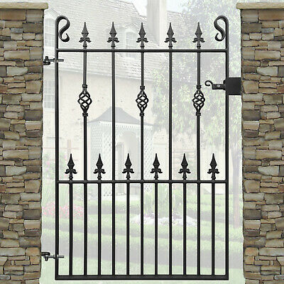 Wrought Iron Metal Arched Spear Tall Garden Gate 3ft x 6ft2 1880mm KBT4 915mm