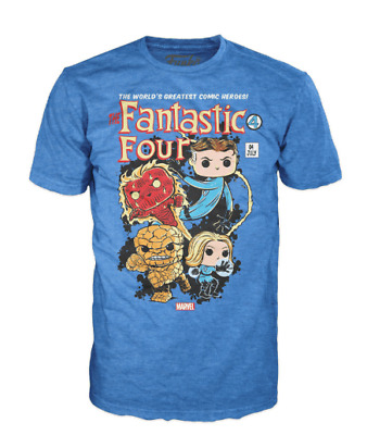 Funko Pop! Tee: Marvel Fantastic Four (Collector Corps Exclusive) T-Shirt Small