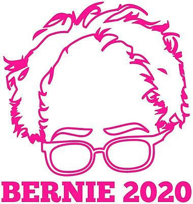 Pink Bernie Sanders Vinyl Decal Bumper Sticker 2020 Presidential Feel the Bern