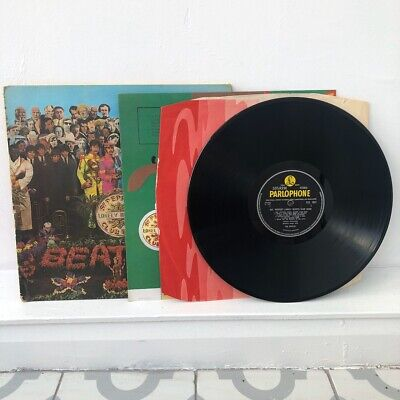 The Beatles SGT Pepper 1st Stereo Press UK PCS7027 1/1 Vinyl LP Record COMPLETE