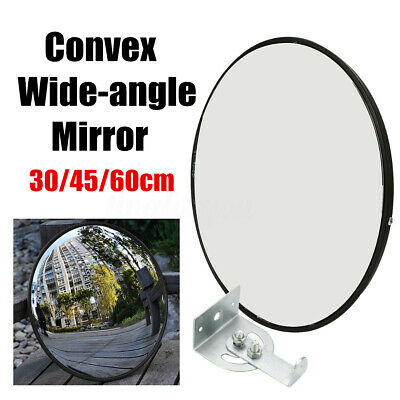 30/45/60cm Wide Angle Security Curved Convex Road Mirror Traffic Driveway  ❤