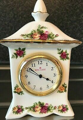 Royal Albert Old Country Roses Carriage Clock Fine & Collectable !!