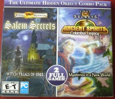Video Game PC Hidden Mysteries Salem Secrets & Ancient Spirits NEW SEALED Jewel