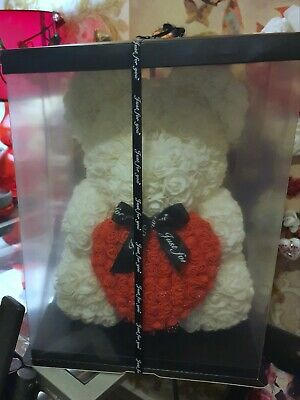 40cm rose bear with box handmade and customized to your choice