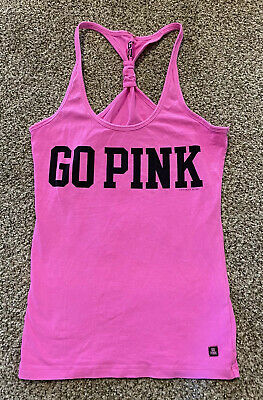 New Victorias Secret Pink XS Workout Tank Go PINK NWOT X-small