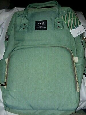 """Land Baby Diaper Bag Large Capacity Mommy Backpack Baby Tote Bag 13""""×5""""×17"""""""