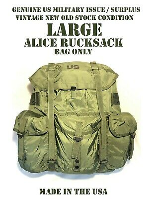 USGI Alice Pack LARGE Main Pack Rucksack Backpack OD Green NO Straps VGC