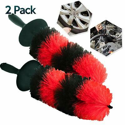 """Master Car Auto Motorcycle Wheel Rim Tire Cleaning Brush Detailing 18"""" 2-Pack"""