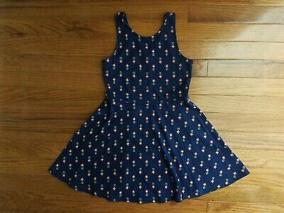 Girls OLD NAVY Blue Pineapple Dress Size Small 6-7