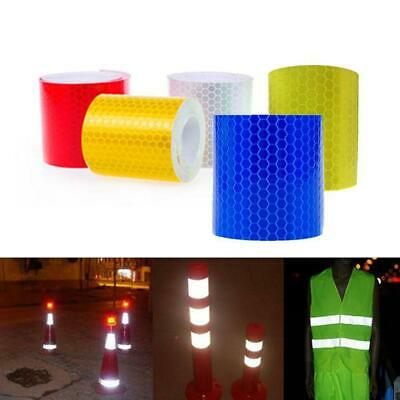 Car Safety Warning Reflective Tape Stickers Roll Film Reflector Decal Stick R3K6