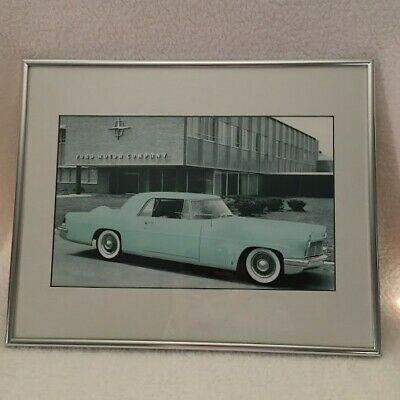 1961 Lincoln Continental by Ford Motor Building Silver Frame Photo Poster Print