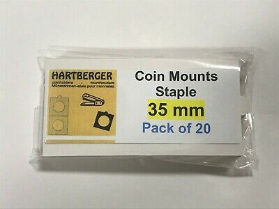 HARTBERGER BRAND 20 Staple Type 2 x 2 coin holders 35mm