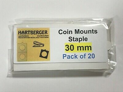 HARTBERGER BRAND 20 Staple Type 2 x 2 coin holders 30mm
