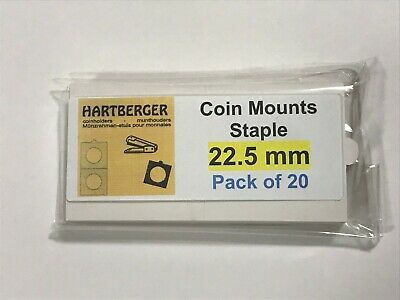 HARTBERGER BRAND 20 Staple Type 2 x 2 coin holders 22.5mm